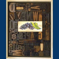 SOLD Grapes (Antique Wood Type)